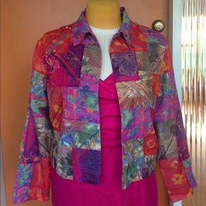 Chico's multicolored blazer size 2